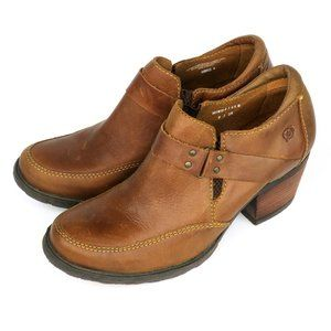 Born Nyssa Ankle Booties Harness Rustic Boots
